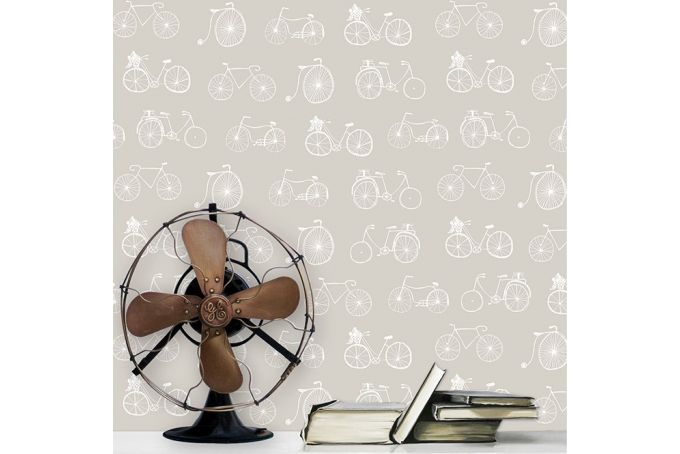 Bicycles Wallpaper  by Design Kist