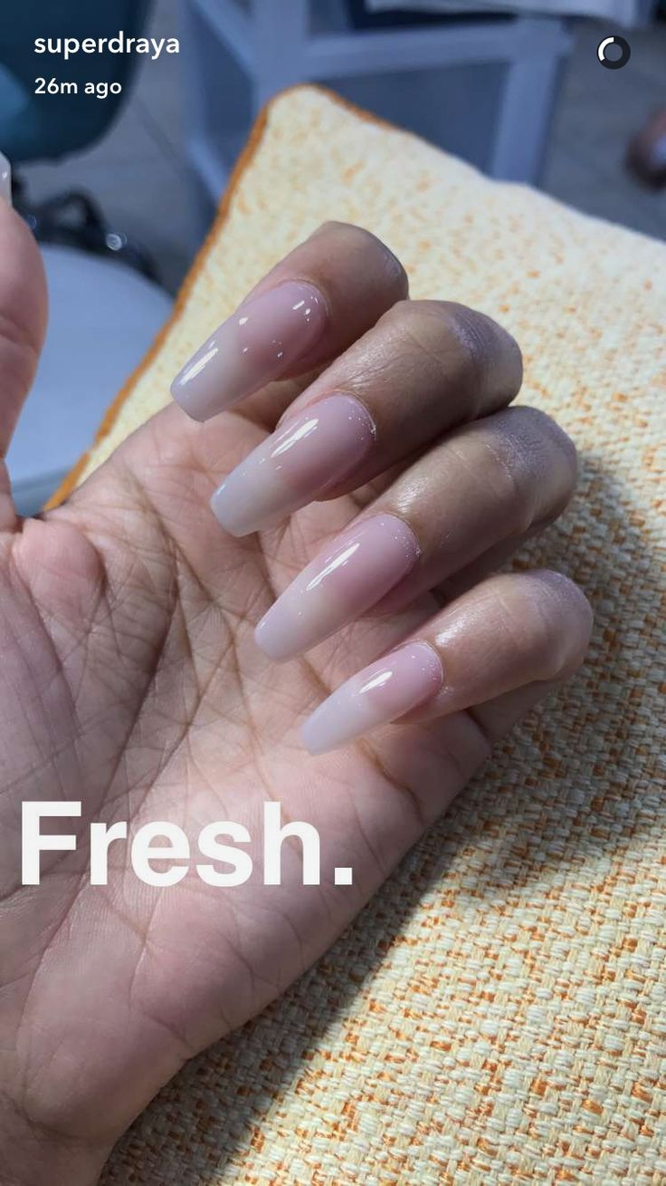Draya Michelle's nails via Snapchat
