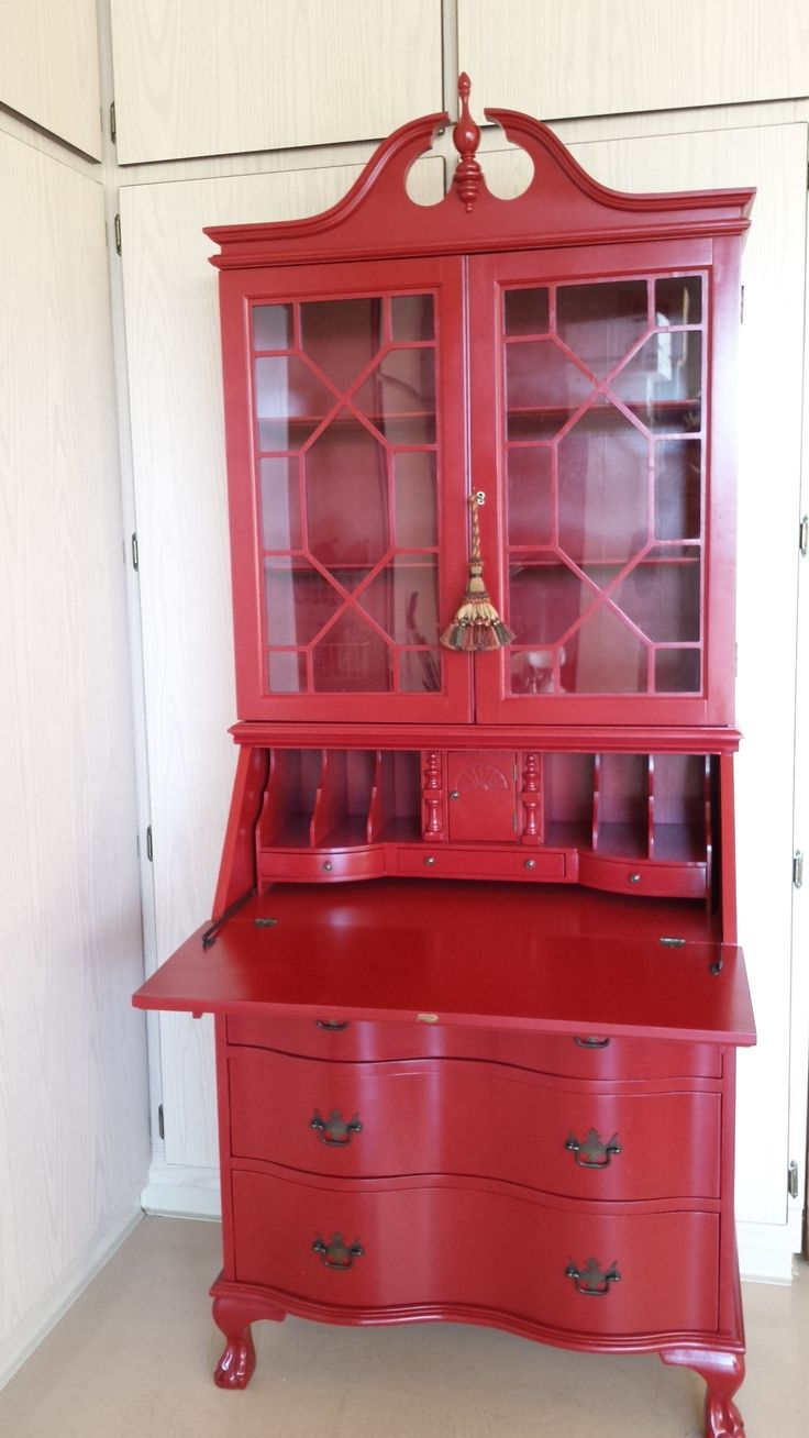 Red China Cabinet Ideas