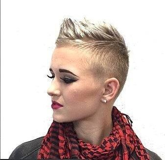 awesome style short buzzed sides w enough to scruff on top