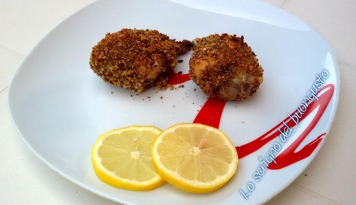 FUSI DI POLLO CON PANATURA CROCCANTE                                             CLICCA QUI PER LA RICETTA  http://loscrignodelbuongusto.altervista.org/fusi-di-pollo-con-panatura-croccante/           #pollo #panato  #secondpiatti #Food  #ricette #cucina #foodblogger
