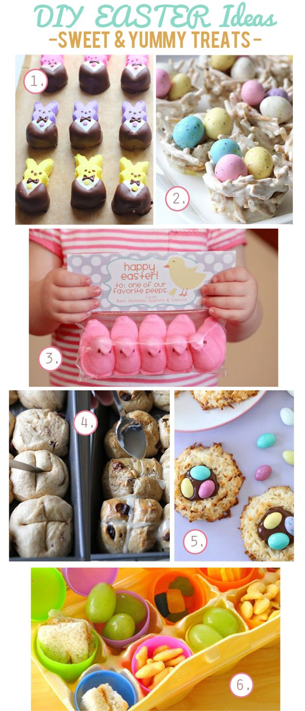 DIY EASTER Ideas - Sweet & Yummy Treats Inspiration Board....lots of great links and recipe ideas!!!