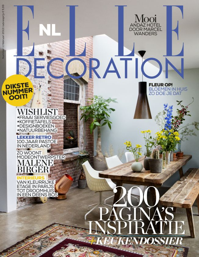 Cover ELLE Decoration NL nummer 1 2013