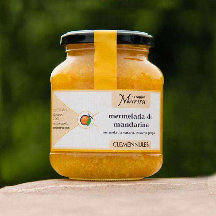 Productos elaborados – Naranjas Marisa. TARRO DE MERMELADA DE MANDARINA 400GR. Productos elaborados 100% naturales y de cosecha propia.