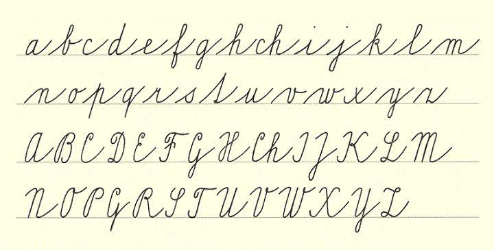 hand written alphabet - Google Search