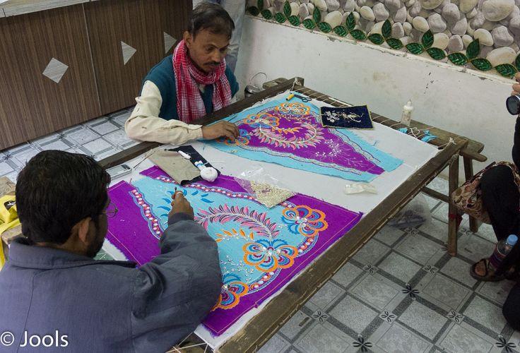 Embroidery workshop, Vrindavan.