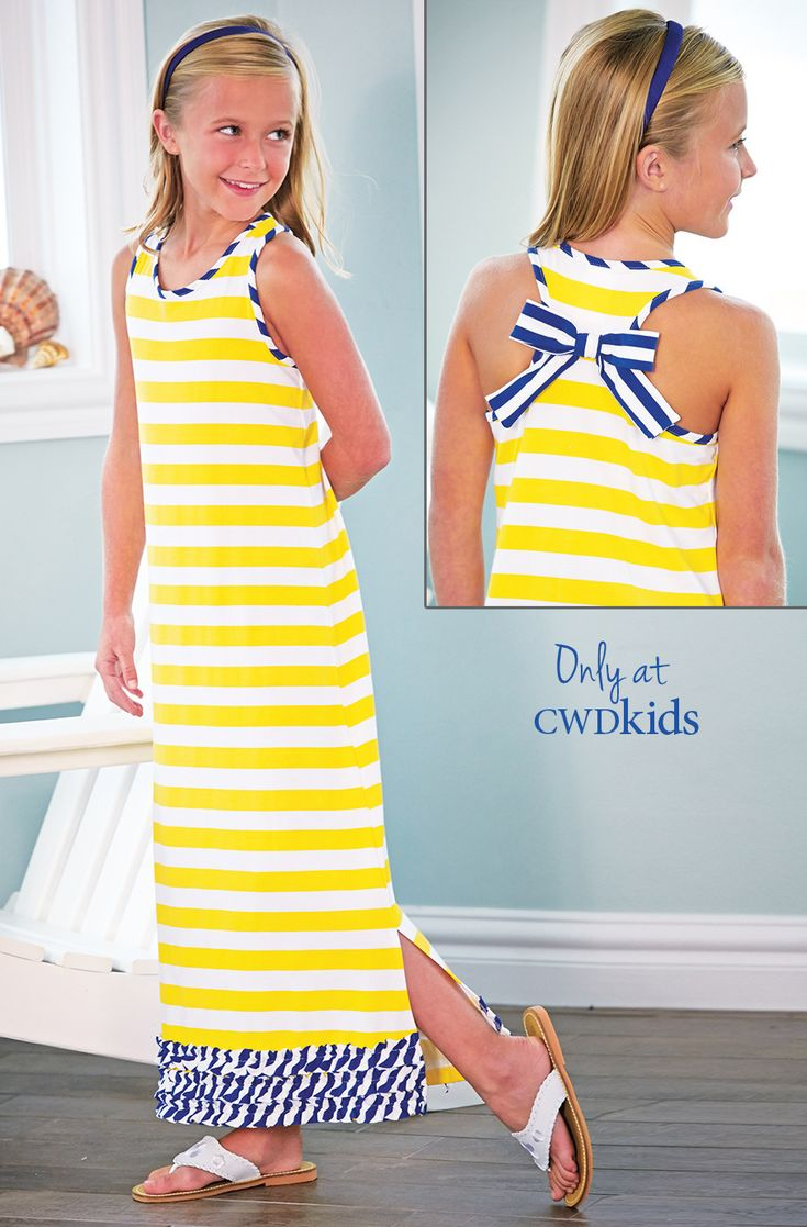 Only at CWDkids: Ruffle Hem Maxi Dress