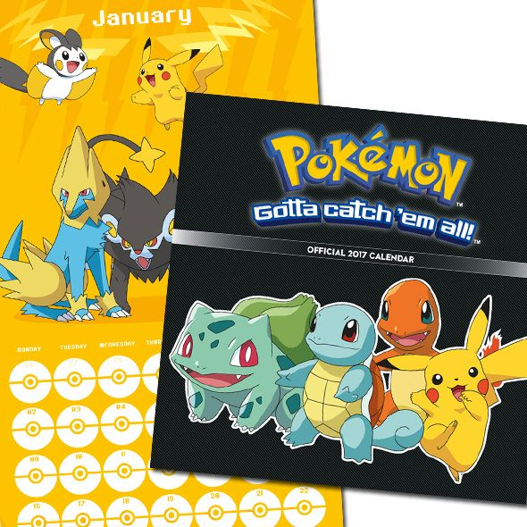 Yay the NEW Official #Pokémon 2017 Calendar is available to Order now with…