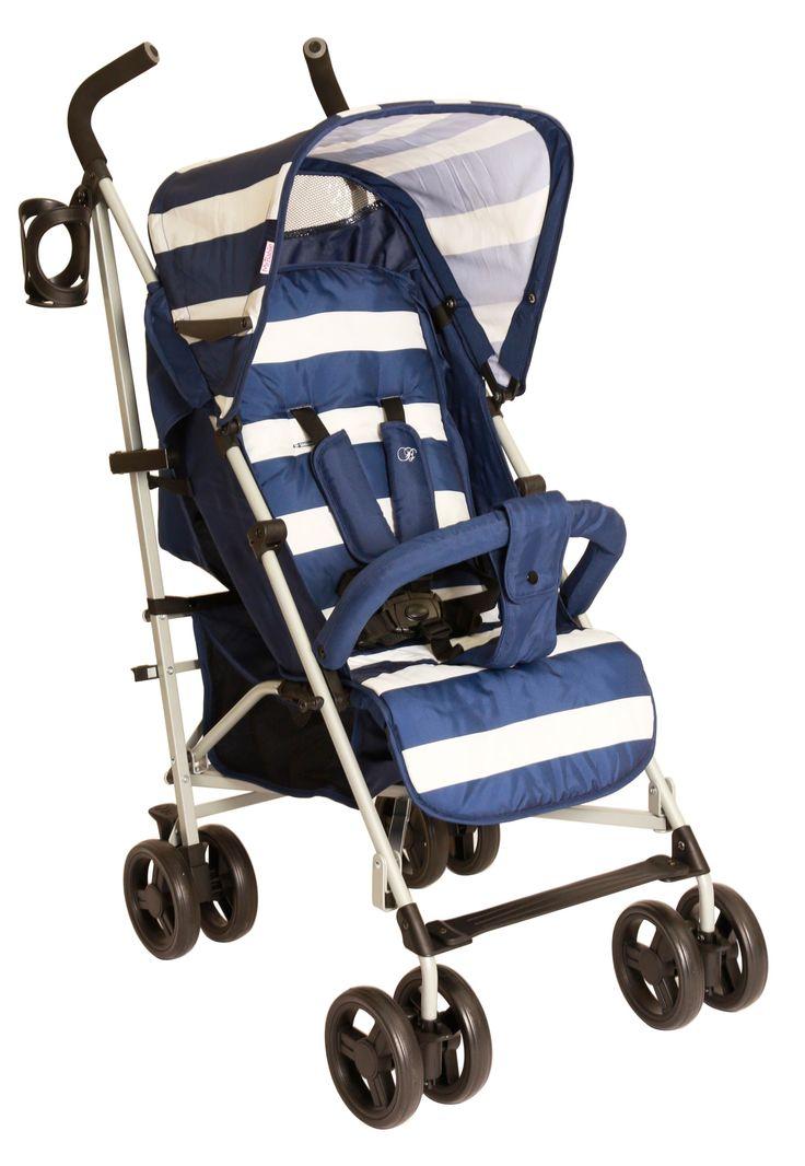 Billie Faiers Signature Range - My Babiie MB01 Lightweight Stroller (Blue Stripes)