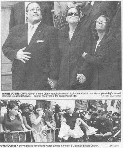 Aaliyah Funeral Newspaper Clip