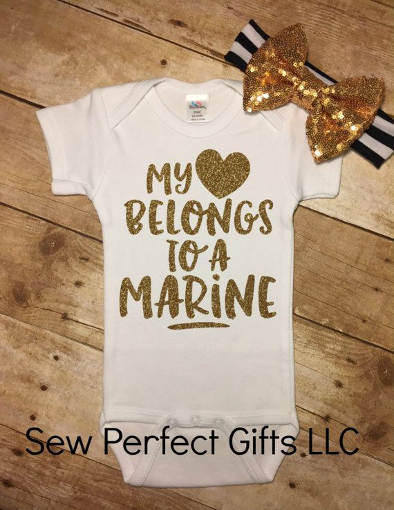 Baby Girl My Heart Belongs To A Marine Marine Daddy Marine