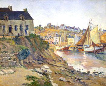 """Ernest Pernelle,  """"Le port de Tréboul,  Douarnenez"""""""