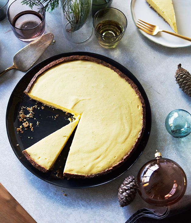 Black sesame and mango tart recipe :: Gourmet Traveller