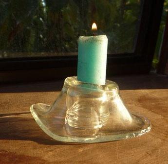 Un Candle Holder pequeño, del Cuello de una Absolut