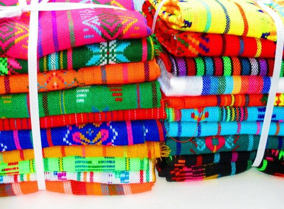 Aztec fabric Mexican Fabric Bundle tribal by MexFabricSupplies For  table runners