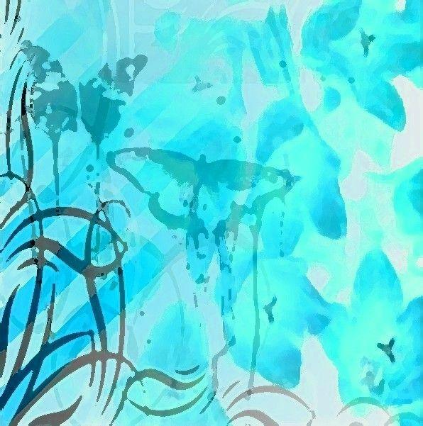 aqua flower dreamer wallpapercyan-#7
