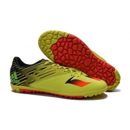 2016 Adidas MESSI 15.3 TF Fotbollsskor för män Gul Orange Svart