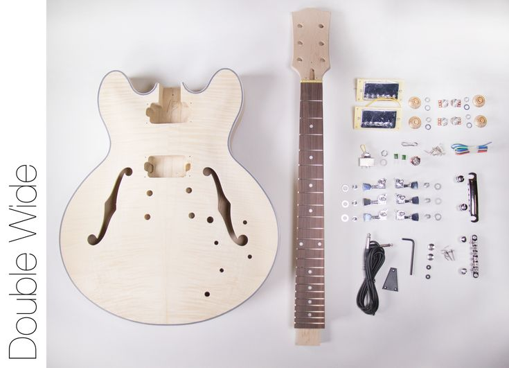 DIY Electric Guitar Kit – 335 Style Build Your Own Guitar Kit