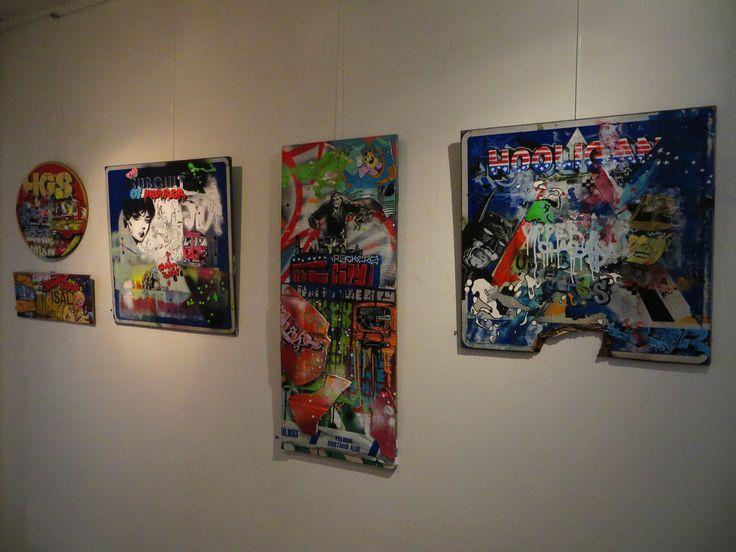 My paintings from artshow at Factory St. Gallery Helsinki Finland. #artfinland #taidesuomi #arthelsinki #taidehelsinki