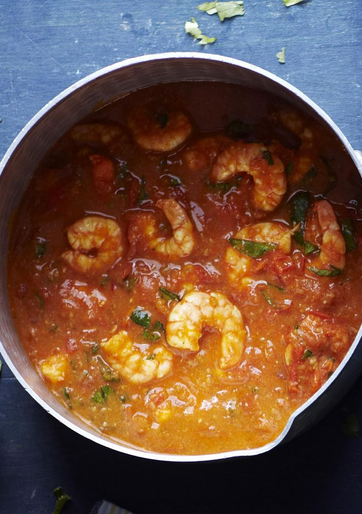 One of our mid-week favourites: a quick and easy prawn curry flavoured with coriander and balti paste. Served with rice and a lime pickle yoghurt.