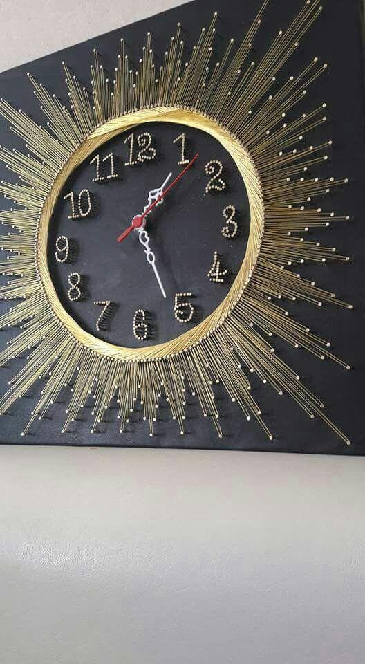 hilorama / string art   clock