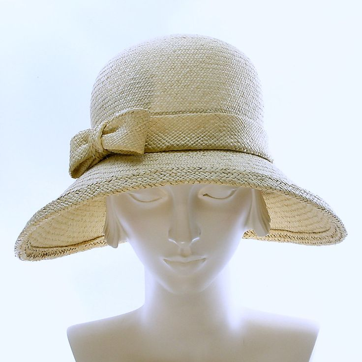 1920s Style Natural Panama Straw Hat for Women by TheMillineryShop, $250.00