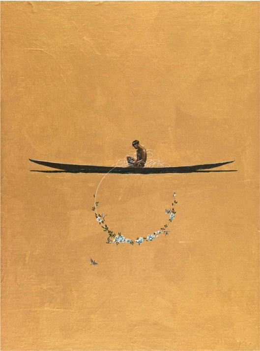 Pedro Ruiz  Bogota Roses, 2012  Acrylic on canvas and board  39.5 x 29.5 cm. / 15.6 x 11.6 in.