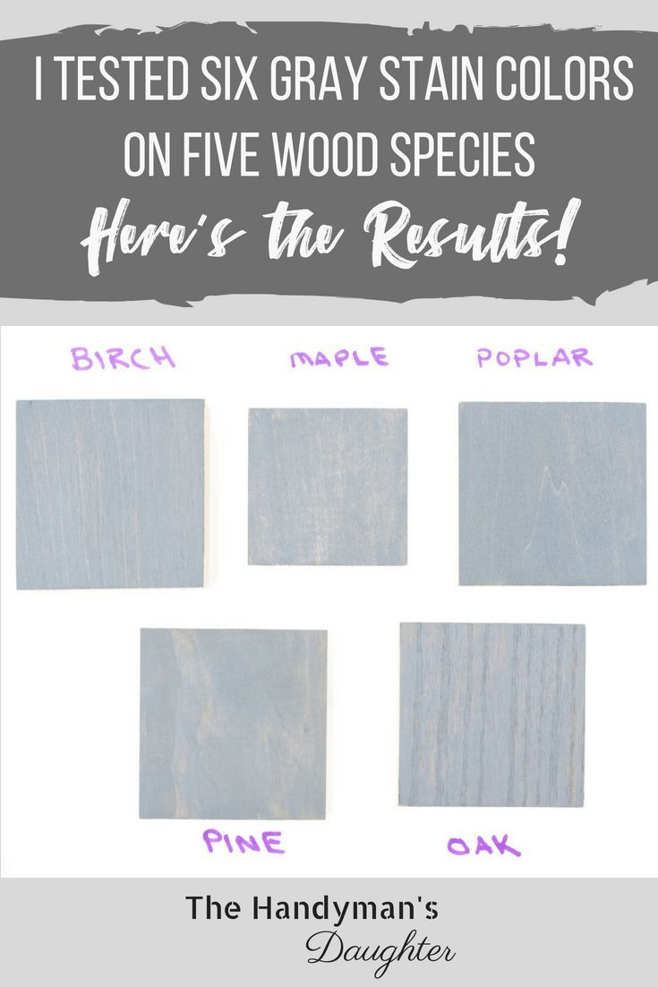 DIY Woodworking Ideas Take the guesswork out of all those grey wood stain colors! I've created samples...
