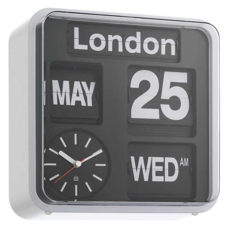 FLAP Black analogue city wall clock | Buy now at Habitat UK