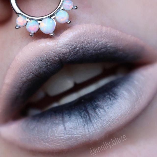 Decay  Lip look via @melly.blaze using 'Black Velvet' Velvetine #limecrime #velvetines