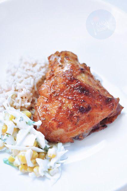 Kardamonovy: Pieczone udka z kurczaka marynowane w jogurcie