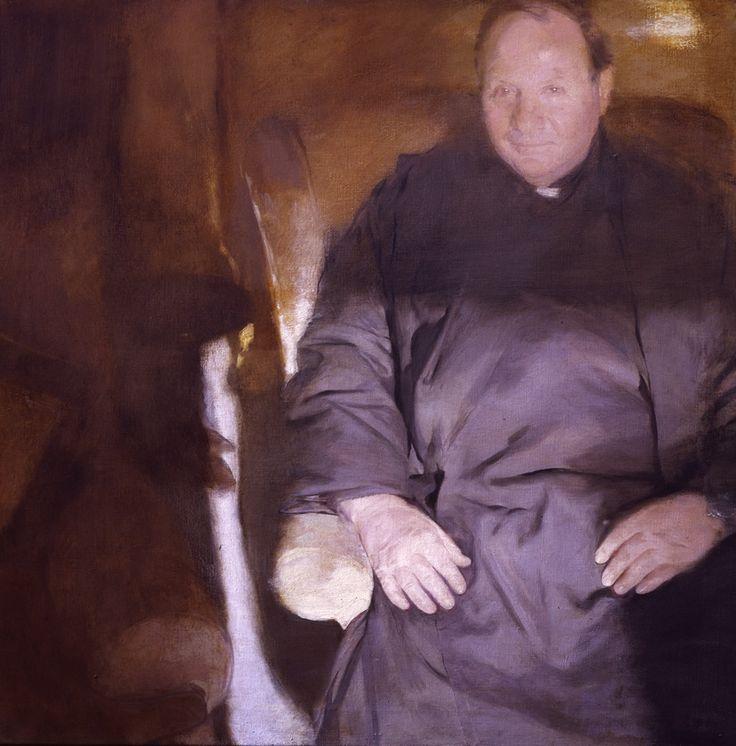 Brendan Kelly Fr. Leo half length portrait in oil
