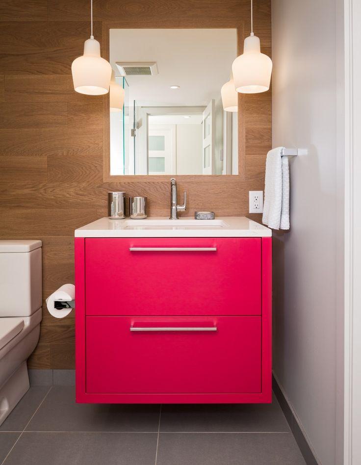 Falken Reynolds   Colourful Condo Bathroom With Pink Vanity Part 16