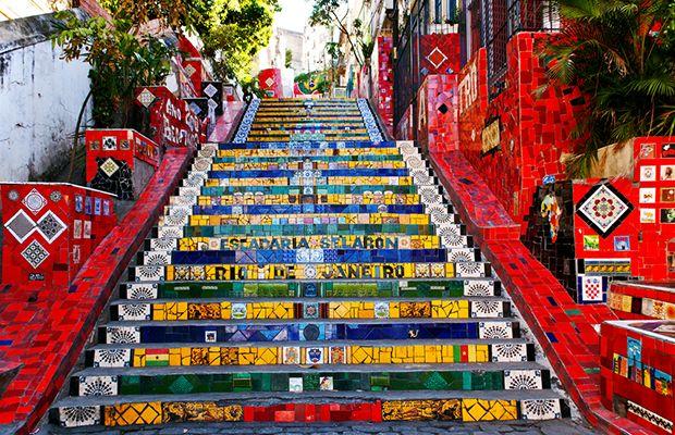 Escadaria Selarón, Rio de Janeiro, Brasil.