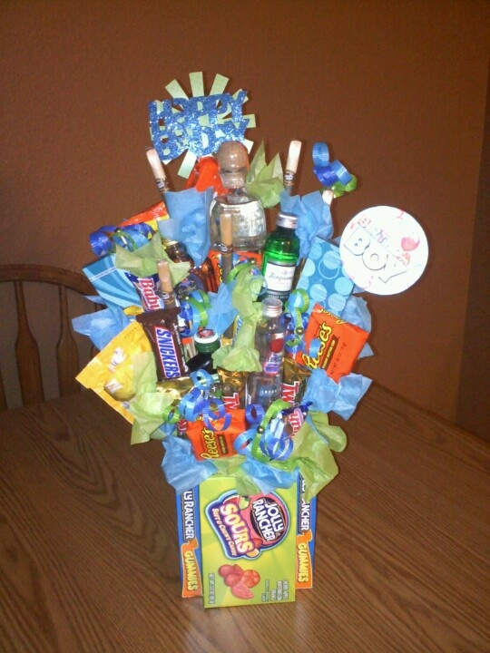 My Sons 21st Birthday Bouquet That I Made For Him