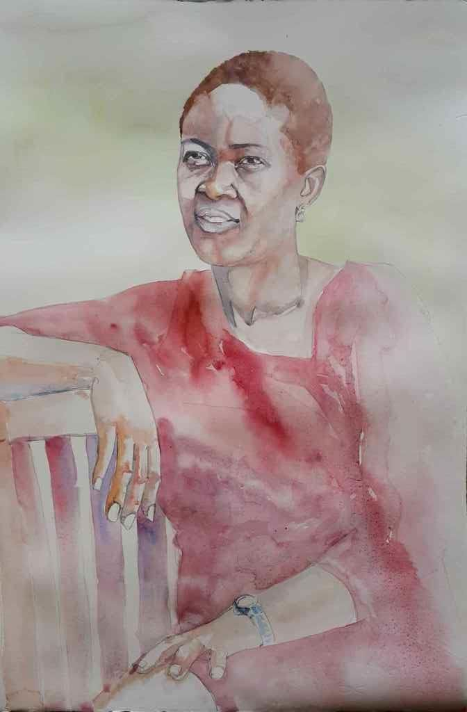 Anna  #watercolour on 300gm Arches Hot Pressed 560x380mm #Portrait