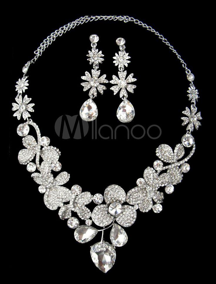 #Milanoo.com Ltd          #Wedding Jewelry Sets     #Noble #Silver #Rhinestone #Flower #Pattern #Bridal #Jewelry                  Noble Silver Rhinestone Flower Pattern Bridal Jewelry Set                                               http://www.seapai.com/product.aspx?PID=5692330