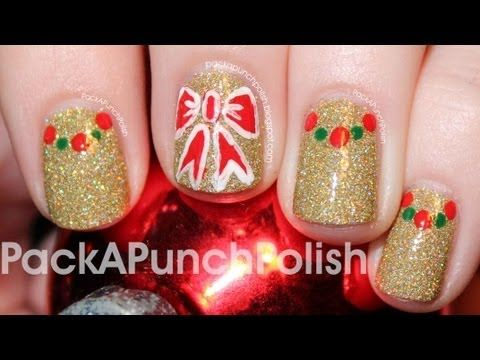 87 best half moon nails nail art design tutorial videos by nded packapunchpolish bows and dotted half moons holiday and christmas nail art tutorial prinsesfo Choice Image