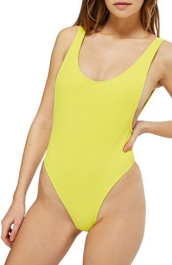 43dae3e82816c Topshop Scoop Neck Crinkle One-Piece Swimsuit | Outfit Ideas | One ...