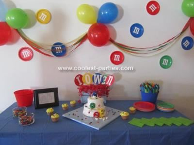 The Colorful Table My Two Year Old Son Loves M Ms So We Decided To Have