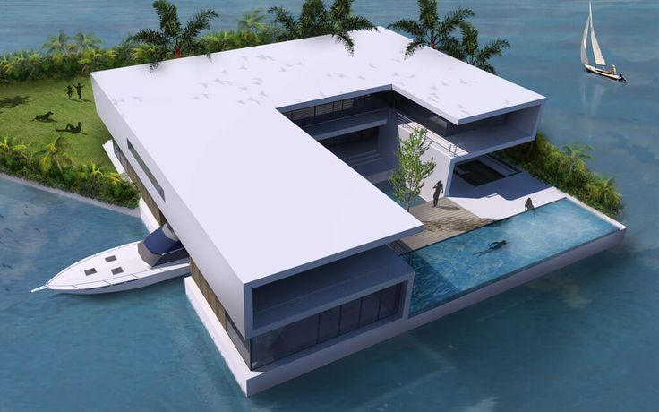 Christie's to Sell the World's First Portable Private Islands - Amillarah Private Island rendering