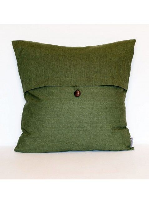 Olive Linen Cushion Cover, Bring soft, natural texture to your interior with this 100% linen cushion, exclusively crafted for PicTubes. Handmade by skilled craftsmen in Iran, this unique cushion makes a wonderful accompaniment to patterned cushions. Layer this cushion with others from the PicTubes collection for an instant style update to your bed or sofa.