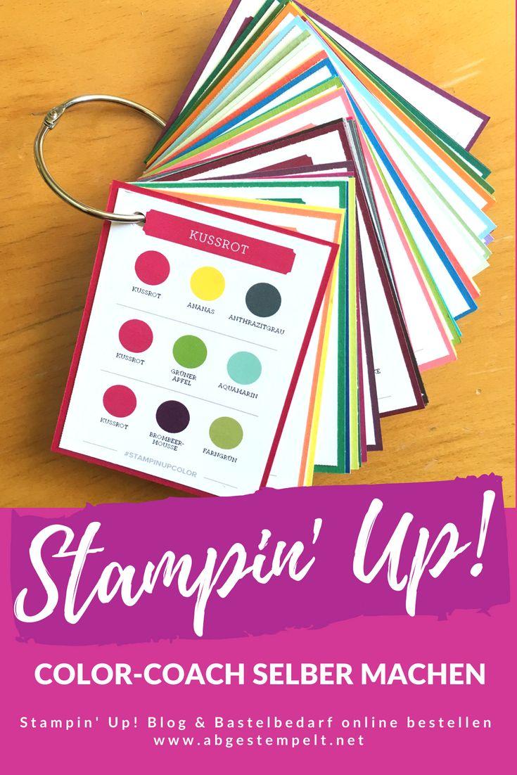 Stampin Up Farbfächer Selber Machen Abgestempelt Net Christine Wöhr Farbfächer Selber Machen Basteln Mit Papier