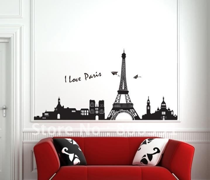 Perfect Wholesale I Love Paris Eiffel Tower PVC Wall Decorative Sticker, Removable  And Waterproof Wallpaper Vinyl, DIY Home