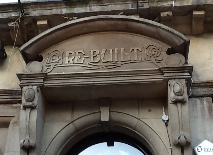 Newcastle, telling the story on the building