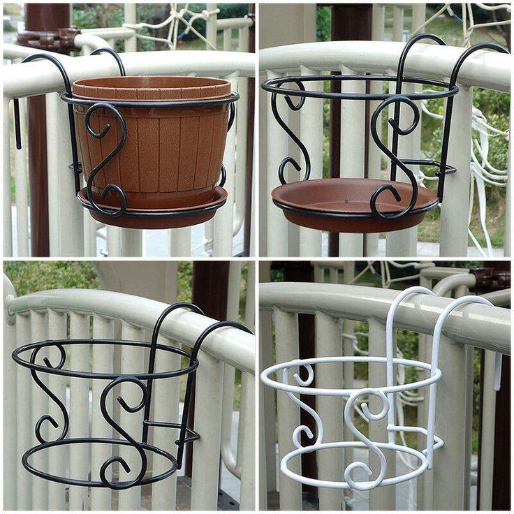 Details Uber Balkonpflanzen Hangende Gestelle Kreatives Rundes Blumentopf Gelander Zaun Dekor 2020 Balkon Bitkiler Walled Garden Dekor