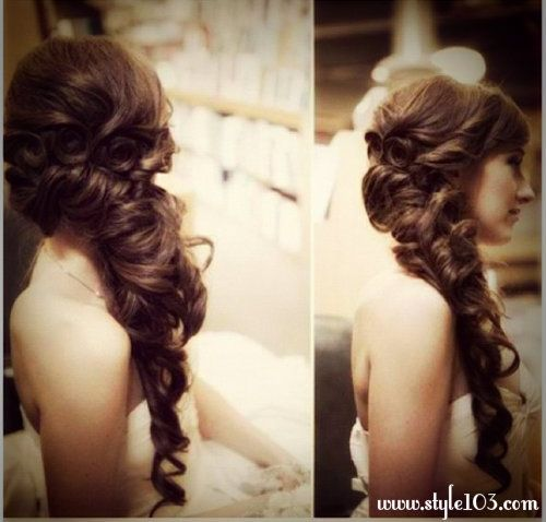 Wedding Hairs 1 Bridal Juda Style | Side hairstyles, Prom hairstyles for long hair, Braids for ...