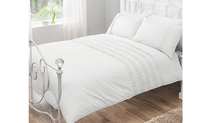 Buy George Home 100% Cotton White Pintuck Duvet Set from our Bedding range today from George at ASDA.