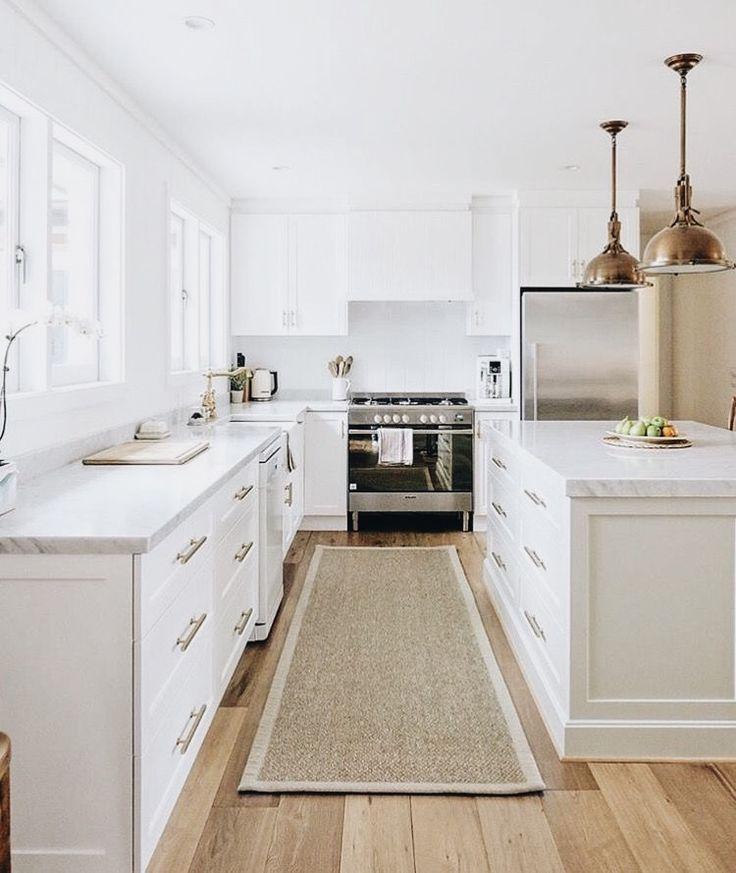 White Kitchen Oak Floor: Home Decor, White Oak Floors