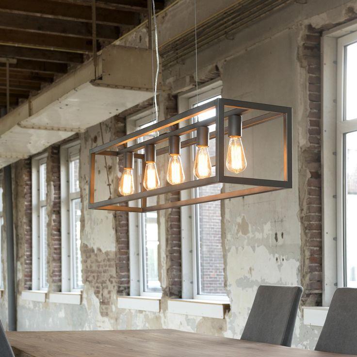 Industriële Hanglamp 'Terrance' 5-lamps